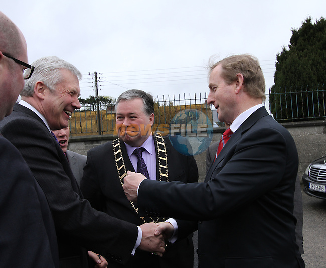 Taoiseach Enda Kenny visits St.Endas School in Drogheda to celebrate 50 Years Open and to Open the New Building...(Photo credit should read Jenny Matthews/NEWSFILE)...