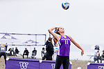 The University of Washington beach volleyball team plays Boise State at Alki Beach in Seattle on April 23, 2017. (Photography by Scott Eklund/Red Box Pictures)