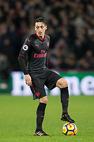 Mesut Ozil of Arsenal during the Premier League match between West Ham United and Arsenal at the Olympic Park, London, England on 13 December 2017. Photo by Andy Rowland.