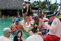 Folks hang out in the pool on Wednesday, two days before the wedding. In front are Josh, Evan and Theresa Giles. Matt Newgent is behind them, with his wife, Christa talking to Allison behind them. Danny Arnot and Travis Ova are on the right.