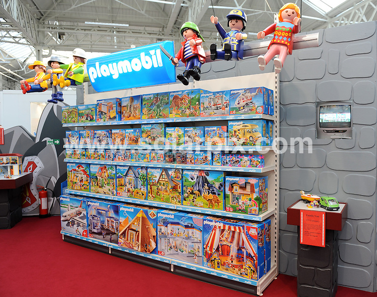 **ALL ROUND PICTURES FROM SOLARPIX.COM**.**WORLDWIDE SYNDICATION RIGHTS**.Toy Fair 2010. Held at Olympia, London, UK. 26 January 2010..This pic: Playmobil..JOB REF: 10552 SSD     DATE: 26_01_2010.**MUST CREDIT SOLARPIX.COM OR DOUBLE FEE WILL BE CHARGED**.**MUST NOTIFY SOLARPIX OF ONLINE USAGE**.**CALL US ON: +34 952 811 768 or LOW RATE FROM UK 0844 617 7637**