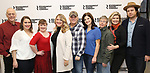 "Mark Blum, Vanessa Aspillaga, Jamie Brewer, Lindsey Ferrentino, Scott Ellis,Diane Davis, Edward Barbanell, Debra Monk, and Josh McDermitt attends the Meet & Greet for the cast of ""Amy and the Orphans"" at the Roundabout Theatre rehearsal hall on January 10, 2018 in New York City."