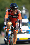 SITTARD, NETHERLANDS - AUGUST 16: Danilo Wyss of Switzerland riding for BMC Racing team competes during stage 5 of the Eneco Tour 2013, a 13km individual time trial from Sittard to Geleen, on August 16, 2013 in Sittard, Netherlands. (Photo by Dirk Markgraf/www.265-images.com)