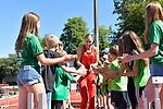 29.06.2019, Stadion Ratingen, Ratingen, DLV, Mehrkampfmeeting im Bild Mareike Arndt ( TSV Bayer04 Leverkusen ) beim Einlauf.<br /> <br /> <br />   <br /> <br /> Foto © nordphoto / Freund