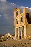 Clearing clouds at sunrise, John S. Cook bank ruins, Rhyolite, Nev.
