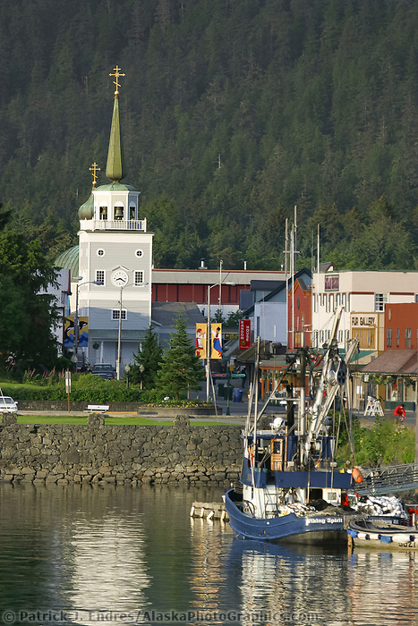 Coastal town of Sitka, St. Michael's cathedral, downtown Sitka, Alaska