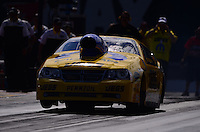 Sept. 14, 2012; Concord, NC, USA: NHRA pro stock driver Jeg Coughlin Jr during qualifying for the O'Reilly Auto Parts Nationals at zMax Dragway. Mandatory Credit: Mark J. Rebilas-