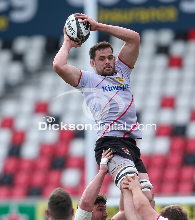 Friday 20 April 2018 | Ulster Rugby Captain's Run<br /> <br /> Clive Ross during Captain's Run at Kingspan Stadium, Ravenhill Park Belfast, Northern Ireland. Photo by John Dickson / DICKSONDIGITAL