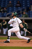 USF Bulls outfielder Austin Lueck (7) at bat during a game against the Louisville Cardinals on February 14, 2015 at Bright House Field in Clearwater, Florida.  Louisville defeated USF 7-3.  (Mike Janes/Four Seam Images)