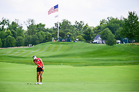 Jeongeun6 Lee (KOR) chips on to 1 during Saturday's third round of the 72nd U.S. Women's Open Championship, at Trump National Golf Club, Bedminster, New Jersey. 7/15/2017.<br /> Picture: Golffile | Ken Murray<br /> <br /> <br /> All photo usage must carry mandatory copyright credit (&copy; Golffile | Ken Murray)