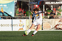 Rochester, NY - Friday June 17, 2016: Western New York Flash defender Elizabeth Eddy (4) during a regular season National Women's Soccer League (NWSL) match between the Western New York Flash and the Portland Thorns FC at Rochester Rhinos Stadium.