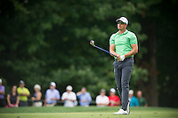 Sweden's Henrik Stenson follows his approach into the 10th during the opening round of the PGA Championship at Valhalla (Photo: Anthony Powter) Picture: Anthony Powter / www.golffile.ie