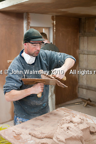 Plastering student, Able Skills, Dartford, Kent.