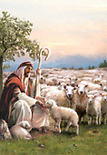 Sharon, HOLY FAMILIES, HEILIGE FAMILIE, SAGRADA FAMÍLIA,shepherd,sheeps, GBSS, paintings+++++,GBSSC50XTR1,#XR#
