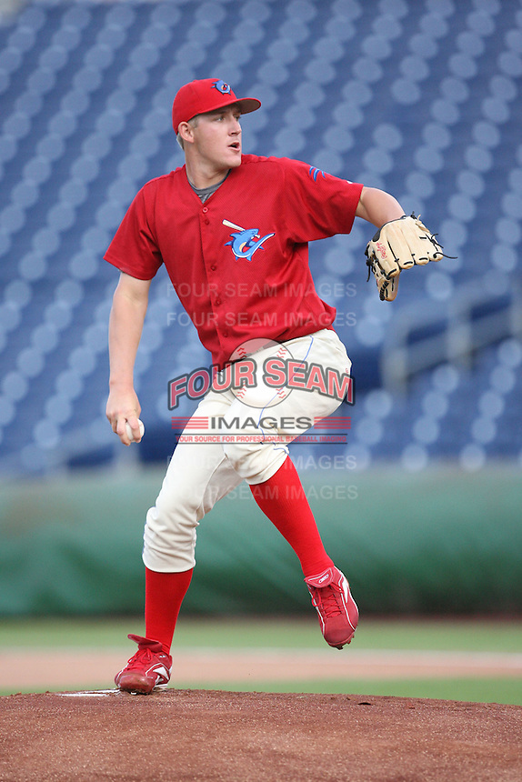 August 12, 2008: Drew Naylor (44) of the Clearwater Threshers at Bright House Field in Clearwater, FL. Photo by: Chris Proctor/Four Seam Images