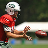 Ryan Fitzpatrick #14, New York Jets quarterback, takes a snap during training camp at Atlantic Health Jets Training Center in Florham Park, NJ on Saturday, Aug. 13, 2016.