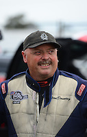 Nov. 8, 2012; Pomona, CA, USA: NHRA funny car driver Grant Downing during qualifying for the Auto Club Finals at at Auto Club Raceway at Pomona. Mandatory Credit: Mark J. Rebilas-