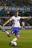 Michael Morrison of Birmingham City clears the danger during the Sky Bet Championship match between Millwall and Birmingham City at The Den, London, England on 21 October 2017. Photo by Carlton Myrie.