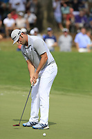 Jon Rahm (ESP) putts on the 18th green during Saturday's Round 3 of the 2017 PGA Championship held at Quail Hollow Golf Club, Charlotte, North Carolina, USA. 12th August 2017.<br /> Picture: Eoin Clarke | Golffile<br /> <br /> <br /> All photos usage must carry mandatory copyright credit (&copy; Golffile | Eoin Clarke)
