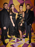BEVERLY HILLS, CA - JANUARY 07: (L-R) Actors Warren Brown, Roxanne McKee, Alin Sumarwata and Daniel MacPherson arrive at HBO's Official Golden Globe Awards After Party at Circa 55 Restaurant in the Beverly Hilton Hotel on January 7, 2018 in Los Angeles, California.