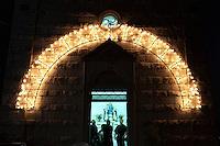 Campobasso: una chiesetta illuminata per la festa patronale