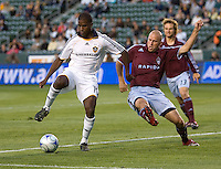 LA Galaxy forward Edson Buddle (14) beats Colorado Rapids forward Conor Casey (9) to the ball in box The Colorado Rapids defeated the LA Galaxy 1-0 during the preliminary rounds of the 2008 US Open Cup at Home Depot Center stadium in Carson, Calif., on Tuesday, May 27, 2008.