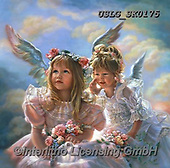 CHILDREN, KINDER, NIÑOS, paintings+++++,USLGSK0175,#K#, EVERYDAY ,Sandra Kock, victorian ,angels
