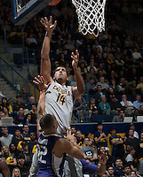 Christian Behrens of California shoots the ball during the game against Washington at Haas Pavilion in Berkeley, California on January 15th 2014.  California defeated Washington, 82-56.