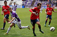 Real Valladolid´s Valdet Rama and Osasuna´s Ortiz during match of La Liga 2012/13. 31/03/2013. Victor Blanco/Alterphotos /NortePhoto