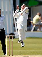 Darren Eckford bowls for North Middx during the Middlesex County Cricket League Division Two game between North Middlesex and Enfield at Park Road, Crouch End, London on Sat May 22, 2010
