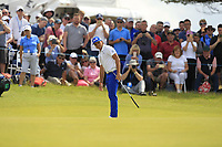 Rickie Fowler (USA) on the 5th green during Round 1 of the Aberdeen Standard Investments Scottish Open 2019 at The Renaissance Club, North Berwick, Scotland on Thursday 11th July 2019.<br /> Picture:  Thos Caffrey / Golffile<br /> <br /> All photos usage must carry mandatory copyright credit (© Golffile | Thos Caffrey)