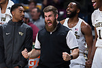 Wake Forest Demon Deacons Director of Athletic Performance Ryan Horn reacts to a play during second half action against the Richmond Spiders at the LJVM Coliseum on December 2, 2017 in Winston-Salem, North Carolina.  The Demon Deacons defeated the Spiders 82-53.  (Brian Westerholt/Sports On Film)