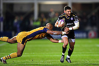 Aled Brew of Bath Rugby takes on the Bristol Rugby defence. European Rugby Challenge Cup match, between Bath Rugby and Bristol Rugby on October 20, 2016 at the Recreation Ground in Bath, England. Photo by: Patrick Khachfe / Onside Images