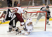 Matt Germain (Providence - 25), Paul Carey (BC - 22), Parker Milner (BC - 35), Kyle MacKinnon (Providence - 15) - The Boston College Eagles defeated the Providence College Friars 4-1 on Tuesday, January 12, 2010, at Conte Forum in Chestnut Hill, Massachusetts.