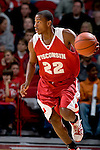 MADISON, WI - OCTOBER 24: Guard Michael Flowers #22 of the Wisconsin Badgers handles the ball during the red/white scrimmage at the Kohl Center on October 24, 2006 in Madison, Wisconsin. The White team defeated the Red team 72-69. (Photo by David Stluka)
