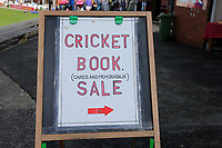 General view of Cricket Book Sale sign ahead of Yorkshire CCC vs Essex CCC, Specsavers County Championship Division 1 Cricket at Scarborough CC, North Marine Road on 7th August 2017