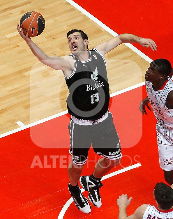 Bizkaia Bilbao Basket's Marko Banic during Spanish Basketball King's Cup match.February 11,2011. (ALTERPHOTOS/Acero)