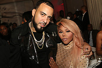 NEW YORK, NY - APRIL 27: French Montana and Lil Kim at the after party for the 2017 Tribeca Film Festival Screening of Can't Stop, Won't Stop: The Bad Boy Story at The Hunt & Fish Club in New York City on April 27, 2017. Credit: Walik Goshorn/MediaPunch