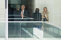 Mitglieder der CDU/CSU-Fraktion im Deutschen Bundestag, waehrend einer ausserordentlichen Sitzung der Fraktion nachdem es zwischen der CDU und der CSU zum Streit ueber den Umgang mit Fluechtlingen gab. Die Sitzung des Deutschen Bundestag wurde aufgrund dieses Streit auf Antrag der CDU/CSU-Fraktion fuer mehrere Stunden unterbrochen. Die Fraktionen von CDU und CSU tagten getrennt.<br /> 2.vl. im Bild: Armin Schuster, CSU, Vorsitzender des Amri-Untersuchungsausschuss.<br /> 14.6.2018, Berlin<br /> Copyright: Christian-Ditsch.de<br /> [Inhaltsveraendernde Manipulation des Fotos nur nach ausdruecklicher Genehmigung des Fotografen. Vereinbarungen ueber Abtretung von Persoenlichkeitsrechten/Model Release der abgebildeten Person/Personen liegen nicht vor. NO MODEL RELEASE! Nur fuer Redaktionelle Zwecke. Don't publish without copyright Christian-Ditsch.de, Veroeffentlichung nur mit Fotografennennung, sowie gegen Honorar, MwSt. und Beleg. Konto: I N G - D i B a, IBAN DE58500105175400192269, BIC INGDDEFFXXX, Kontakt: post@christian-ditsch.de<br /> Bei der Bearbeitung der Dateiinformationen darf die Urheberkennzeichnung in den EXIF- und  IPTC-Daten nicht entfernt werden, diese sind in digitalen Medien nach &szlig;95c UrhG rechtlich geschuetzt. Der Urhebervermerk wird gemaess &szlig;13 UrhG verlangt.]