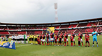 CÚCUTA- COLOMBIA, 03-08-2019:Formación del Cúcuta Deportivo ante el Once Caldas durante partido por la fecha 4 de la Liga Águila II  2019 jugado en el estadio General Santander de la ciudad de Cúcuta . / Team  of  Cucuta Deportivo agaisnt of Once Caldas  during the match for the date 4 of the Liga Aguila II 2019 played at the General Santander  stadium in Cucuta  city. Photo: VizzorImage / Manuel Hernández  / Contribuidor