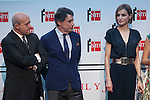 Madrid President Ignacio Gonzalez, Culture Minister Ignacio Wert and Queen Letizia of Spain attend the 'Barco de Vapor' literature awards at the Casa de Correos in Madrid, Spain. April 21, 2015. (ALTERPHOTOS/Victor Blanco)