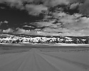 Desert Nevada Scenics Lonely Road B&W
