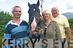 Getting ready for Cahersiveen Horse and Pony Fair are .L-R Padraig Cournane, Catherine Cournane and Paddy Cronin