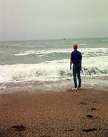 Bergen Wilde at the beach, 1987.<br />