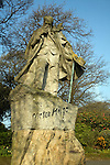 Victor Hugo statue, St Peter Port, Guernsey, Channel Islands, UK