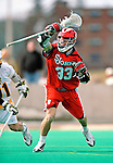 19 March 2011: St. John's University Red Storm Attacker Kevin Cernuto, a Freshman from Neshanic Station, NJ, in action against the University of Vermont Catamounts at Moulton Winder Field in Burlington, Vermont. The Catamounts defeated the visiting Red Storm 14-9. Mandatory Credit: Ed Wolfstein Photo
