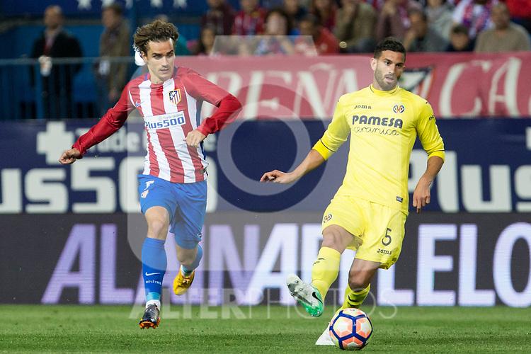 during the match of La Liga between Atletico de Madrid and Villarreal at Vicente Calderon  Stadium  in Madrid, Spain. April 25, 2017. (ALTERPHOTOS/Rodrigo Jimenez)