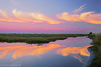 Sunrise on waterway at Merritt Island National Wildlife Refuge, Florida