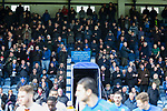 Stockport fans in the The Danny Bergara Stand welcome the teams onto the pitch. Stockport County v Barnet, 07032020. Edgeley Park, National League. Photo by Paul Thompson.