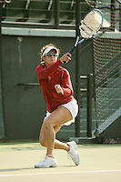 25 January 2007: Anne Yelsey during Stanford's 7-0 win over UC Davis at the Taube Family Tennis Stadium in Stanford, CA.